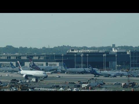 New York JFK Airport Live with ATC