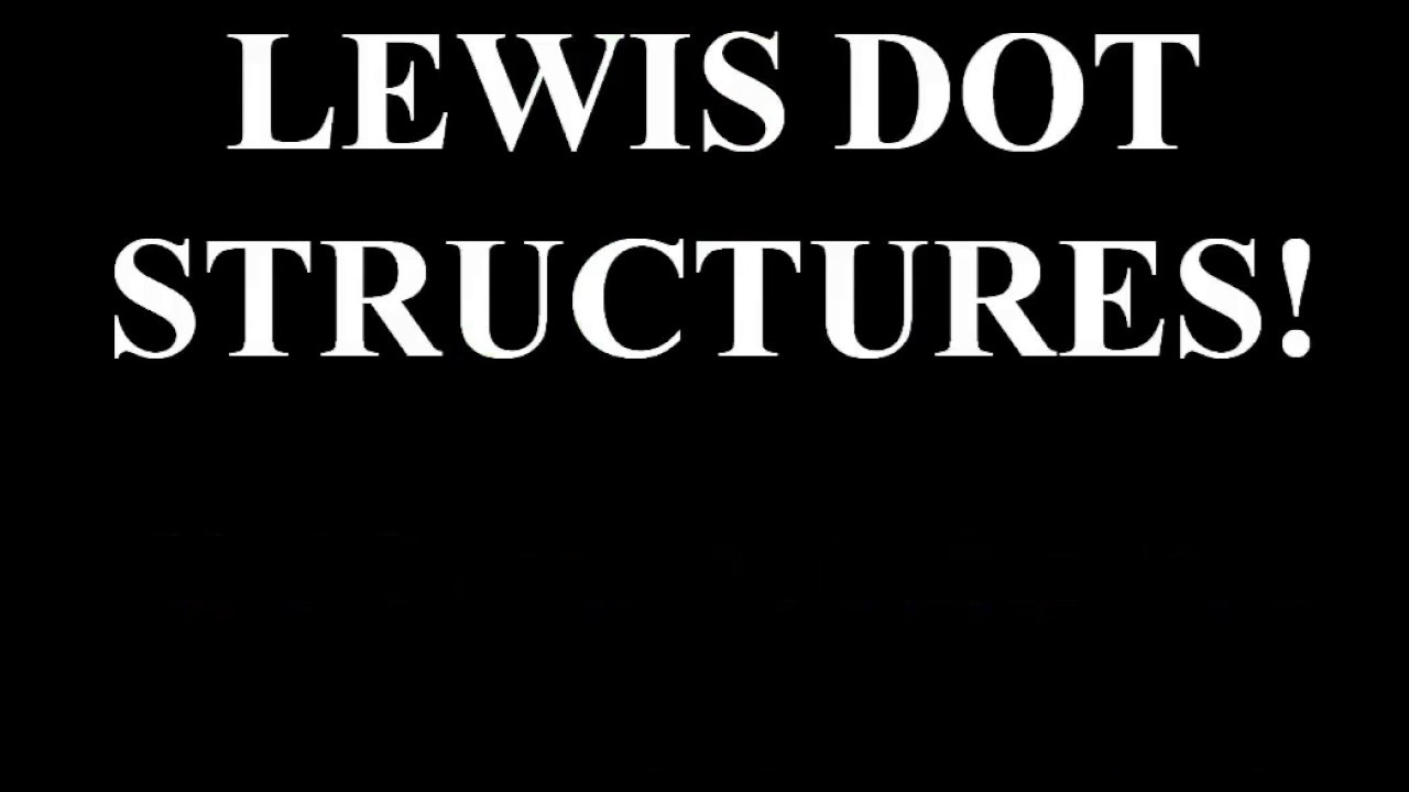 lewis dot structures tutorial how to draw electron dot diagrams made easy crash chemistry academy [ 1280 x 720 Pixel ]