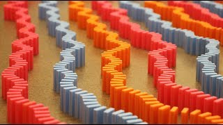 Massive WAVE of Dominoes! (6,000 Dominoes)