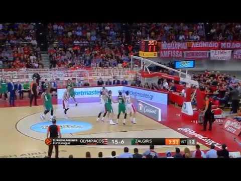 Olympiacos-Zalgiris (78-87): Brandon Davies 21 pts | Eurohoops