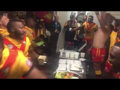 PNG Kumul 26 14 win over Fiji in #PacificTest  2018. Victory Song