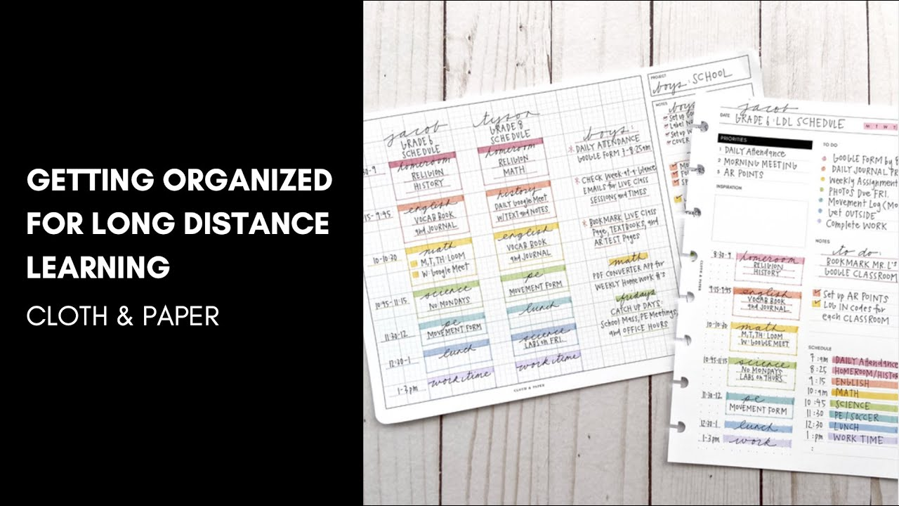 Get Organized with Us | Long Distance Learning Organization with  @momruncraft  | Cloth & Paper