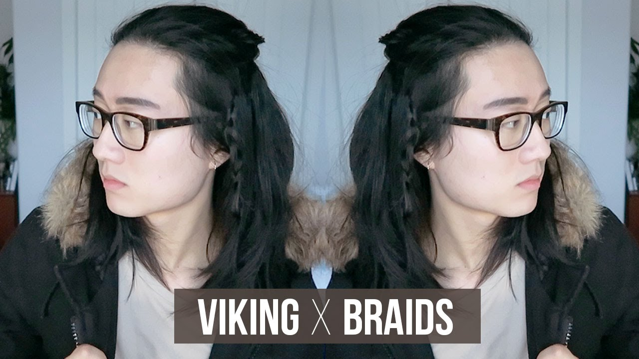 Easy Viking Braids Men Medium Long Hairstyle Youtube