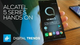 Alcatel 5 Series Smartphones - Hands On at MWC 2018
