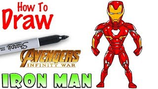How to Draw Iron Man | Avengers Infinity War