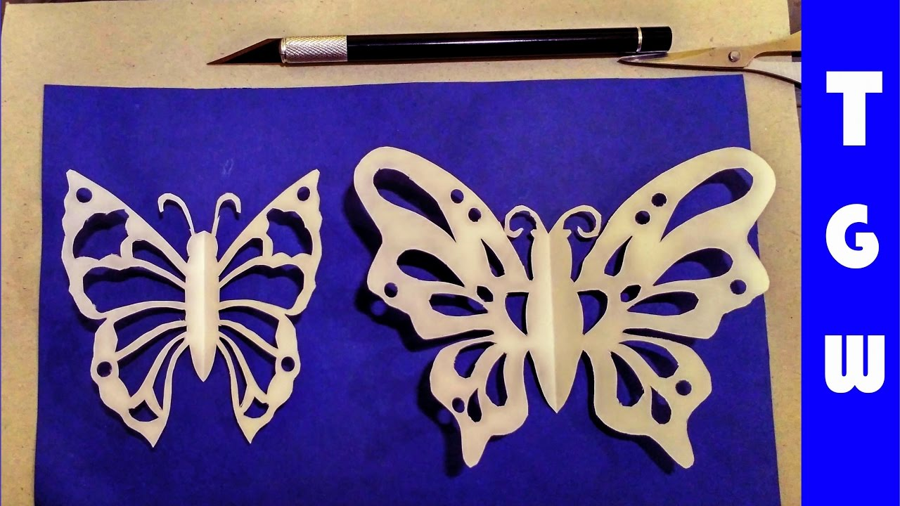 Beautiful Paper Butterfly Cut Out Pattern Youtube