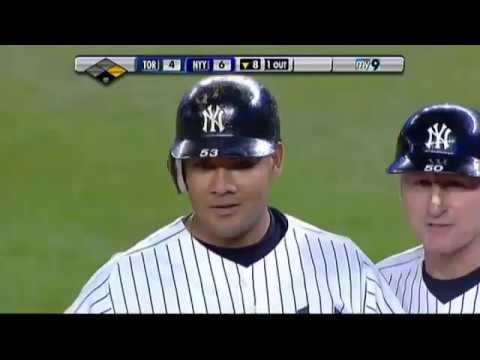 2009 Yankees: Melky Cabrera knocks in Jerry Hairston Jr. vs Blue Jays (8.11.09)