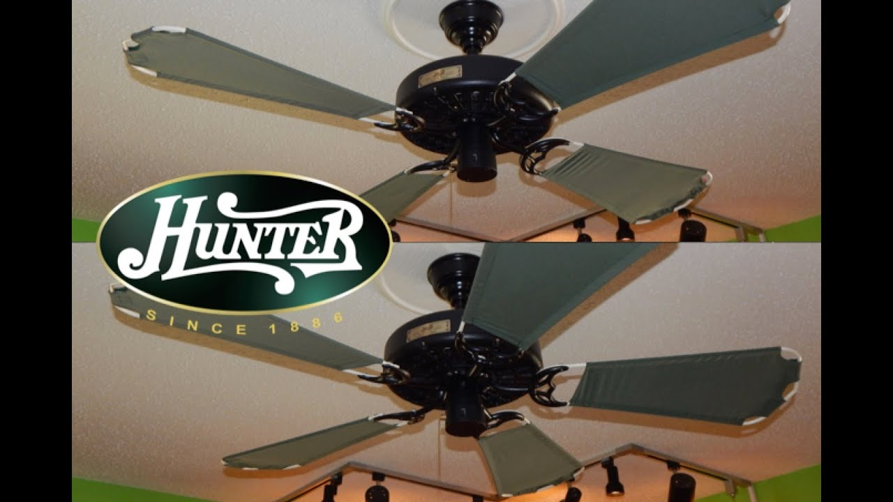 Hunter Outdoor Original Blades On Black Original Ceiling