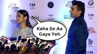 Jennifer Winget Ignore Ex Husband Karan Singh Grover At Dadasaheb Phalke Awards 2018