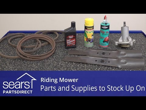 Riding Mower Parts And Supplies To Stock Up On
