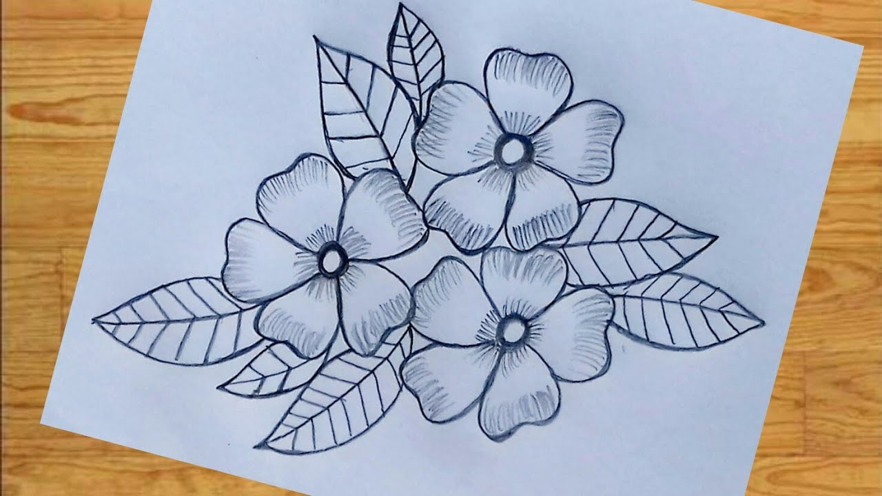 Flower Design Drawing With Pencil How To Draw Flower Designs Flower Designs Drawing Flower Designs Youtube