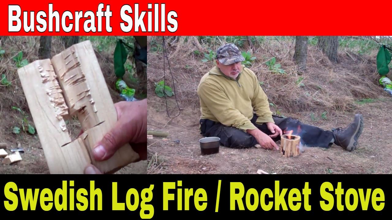 Wood Log Stove, Swedish Rocket Stove - Bushcraft Skills for a Camp ...