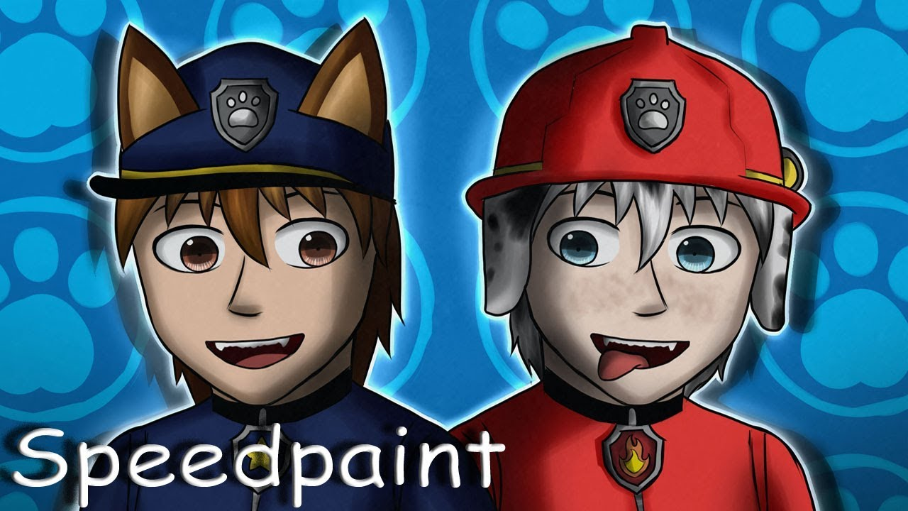 Paw Patrol - Chase x Marshall - Speedpaint
