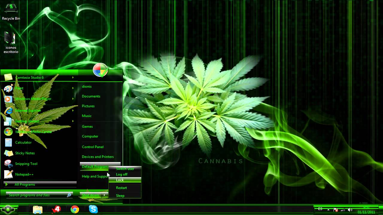 3d Dice Desktop Wallpaper Tema Marihuana Para Windows 7 Youtube