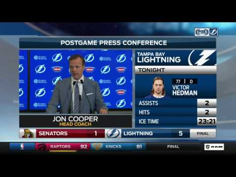 Jon Cooper—Ottawa Senators at Tampa Bay Lightning 2/27/17