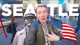 Чистый Сиэтл, еда в отеле США, памятник Ленину в Америке