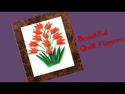 Quill Paper || How to Make Beautiful🌹💐 Quilling Flowers || paper Flowers Tutorial ||