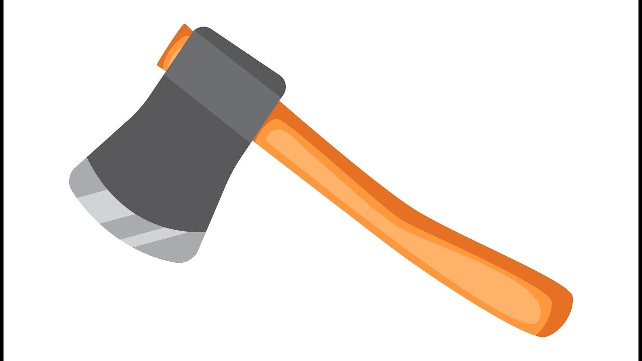 Ax, hatchet - Adobe Illustrator cs6 tutorial  How to create simple vector  tool
