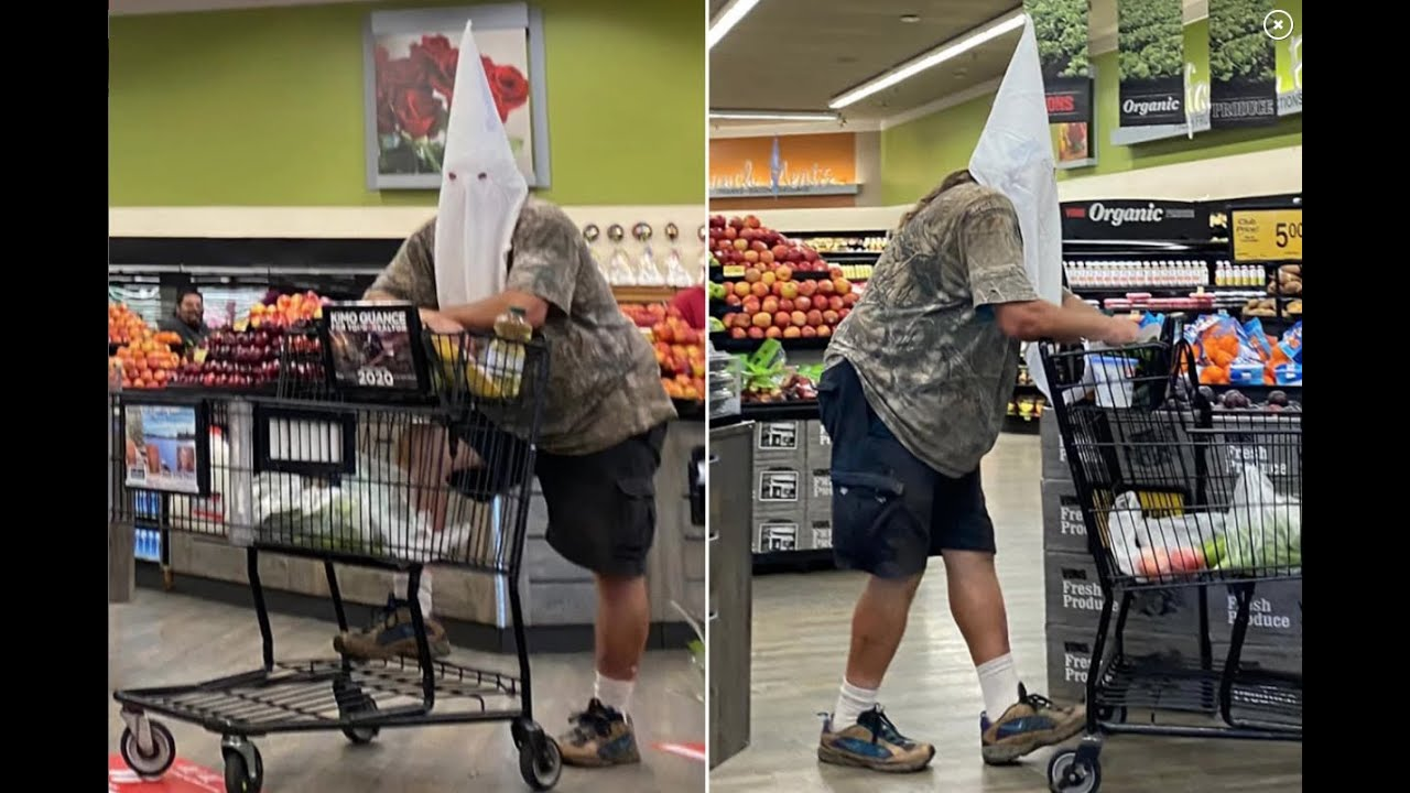 San Diego:  Man Goes Grocery Shopping In A Old Familiar Face Covering
