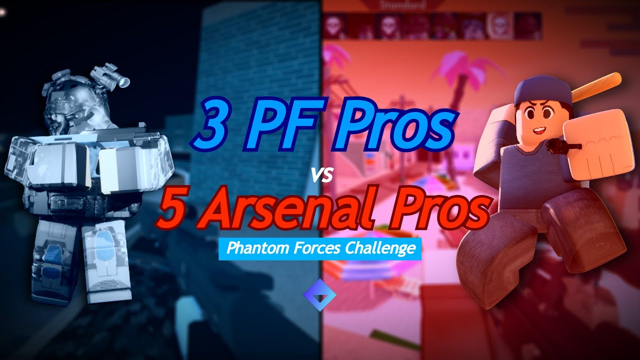 Download 3 Competitive Phantom Forces Players vs 5 Competitive Arsenal Players in PF! (Best of 3)
