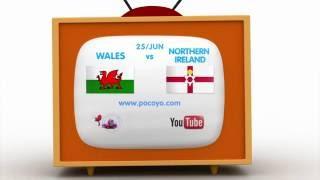 Pocoyo football: euro 2016 - wales vs. northern ireland - 25th june