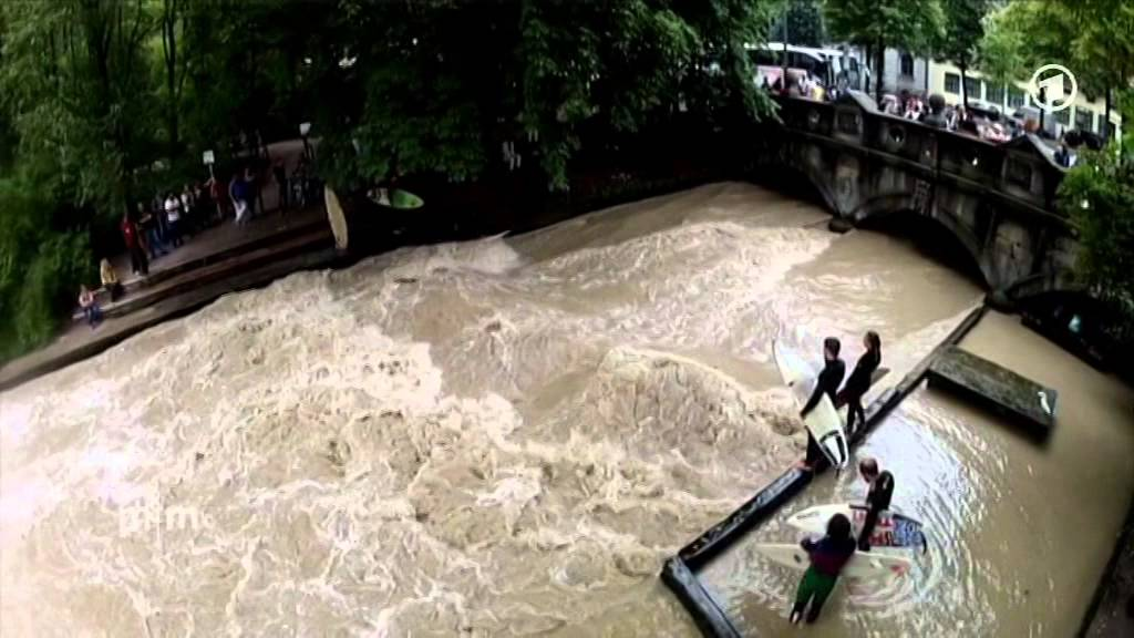 Eisbach - Surfen in der Grostadt Mnchen - YouTube