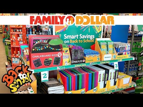 FAMILY DOLLAR BACK TO SCHOOL SHOPPING!!! *$3 AND UNDER*