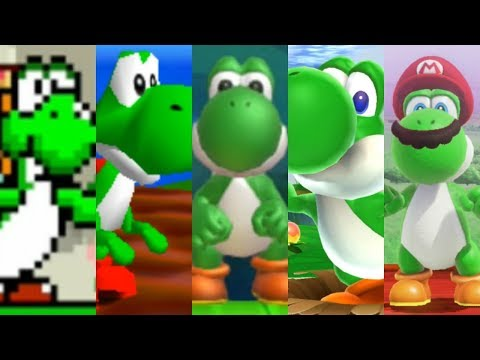 Evolution of Yoshi in Super Mario Games