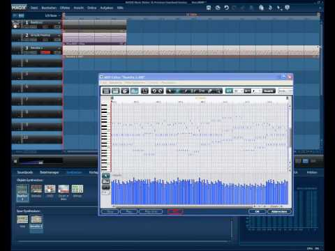 Tutorial on how to use the synths in Magix Music Maker