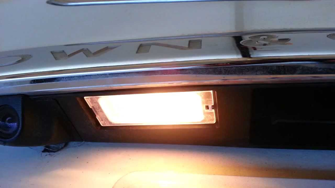 2017 Chrysler Town Country Testing New License Plate Light Bulb