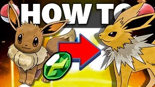 HOW TO Evolve Eevee into Jolteon in Sun and Moon