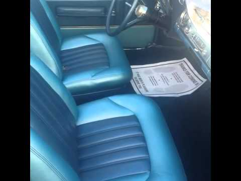 classic Oldsmobile dynamic 88 custom Blue upholstery interior