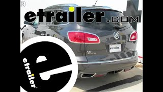 Installation of a Trailer Hitch on a 2014 Buick Enclave - etrailer.com