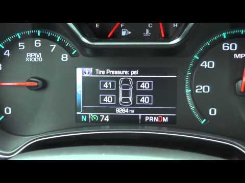 2015 Chevy Impala Dashboard Menu