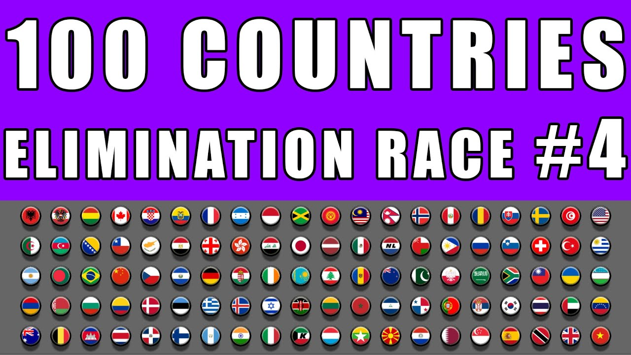 100 Countries Elimination Marble Race 4 in Algodoo \ Marble Race King