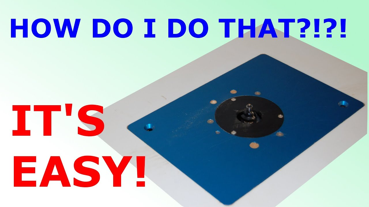 How to install router plate in table youtube greentooth Images