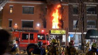 Incendie à Montréal (10-14) - 21 Avril 2013