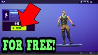HOW TO GET LAZY SHUFFLE EMOTE FOR FREE! (Fortnite Old Emotes)