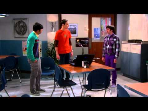 Raj and Howard are spying on Sheldon cooper in his secret room