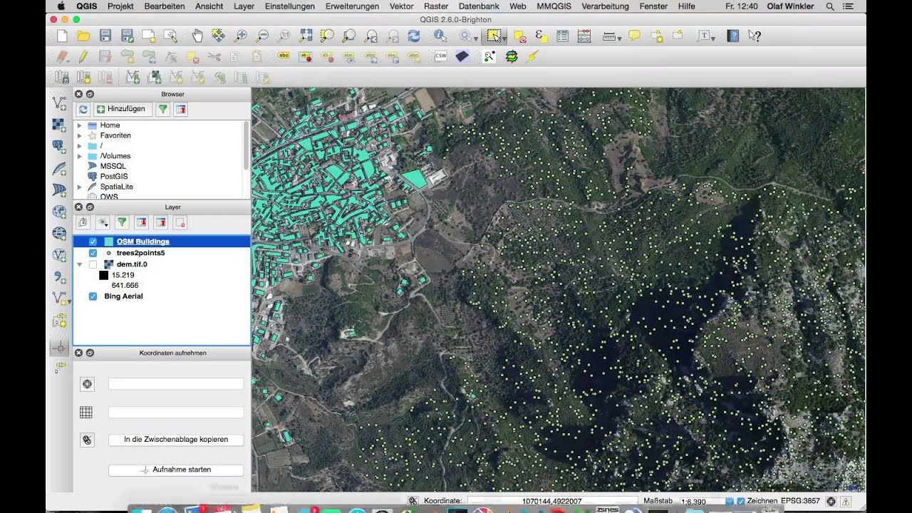 QGIS 3D Map with objects