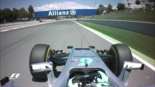 Spanish GP 2016 F1 Hamilton & Rosberg massive crash Analysis: Who's to blame