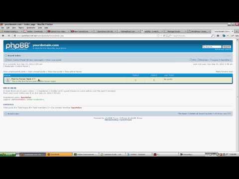 How to Install Phpbb3 and Create a BLOG for your website - (