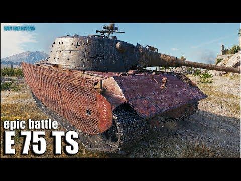 8500 урона на E 75 TS World of Tanks лучший бой