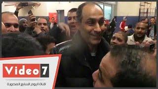جمال مبارك يخطف الأنظار من نجوم المنتخب الوطنى عقب الفوز على تونس