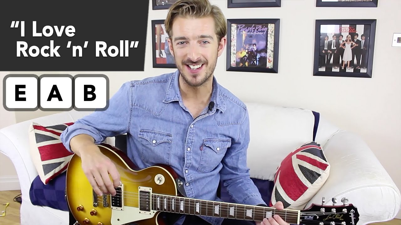 I Love Rock And Roll Guitar Lesson Tutorial - EASY ...