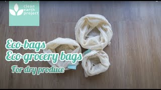 Organic cotton grocery bags for dry produce | eco bags