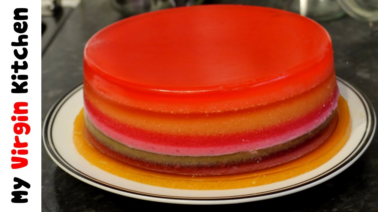 Shuman S Bakery Jelly Cake Recipe: HOW TO MAKE A JELLY / JELLO RAINBOW CAKE