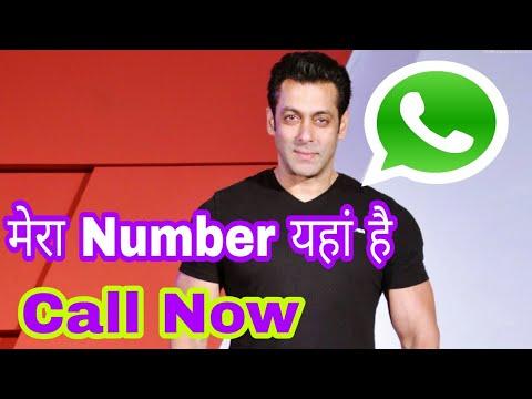 Salman khan whatsapp number. ..Phone Number alert ...