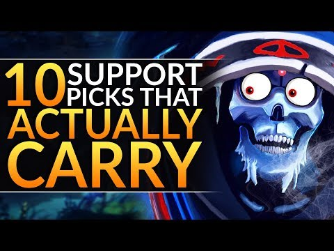 Top 10 Support Heroes That ACTUALLY HARD CARRY - Meta Tips To RANK UP | Dota 2 Pro Guide (7.24)