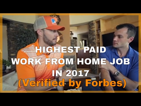 """""""Legitimate """"Highest Paid Work From Home Job 2017 - Verified by Forbes"""" 💰"""